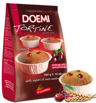 Immagine di DOEMI TORTINE INTEGRALI ALL'AMARENA 300 Gr
