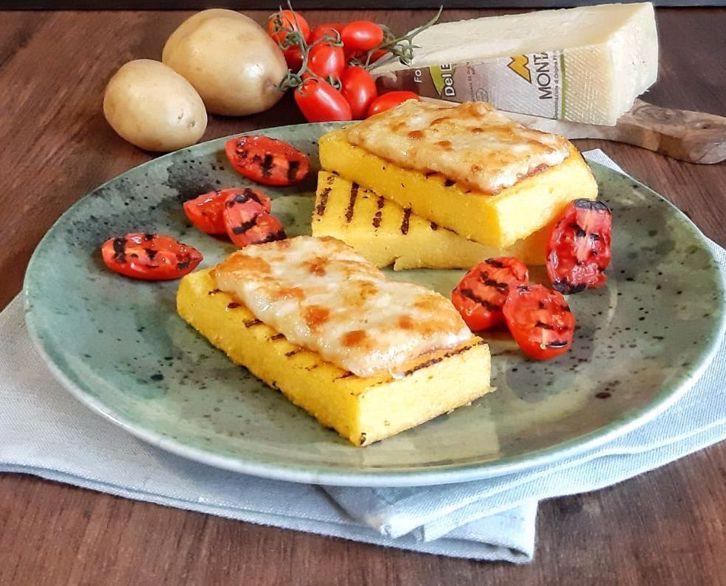 Ricetta: frico friulano con polenta e verdure grigliate